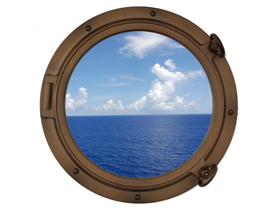 Buy bronzed decorative ship porthole window 15 inch for Decoration hole
