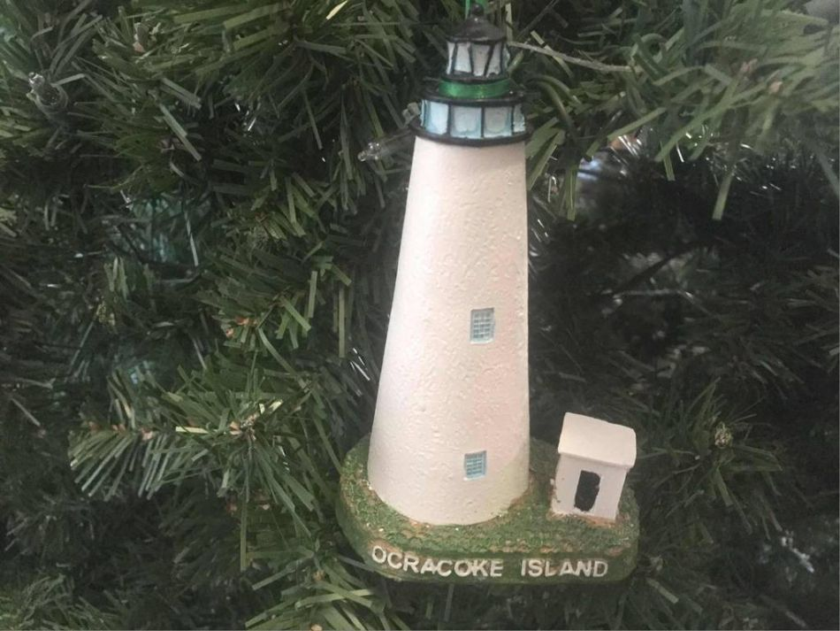 ocracoke lighthouse christmas tree ornament 6 - Christmas Lighthouse Decorations