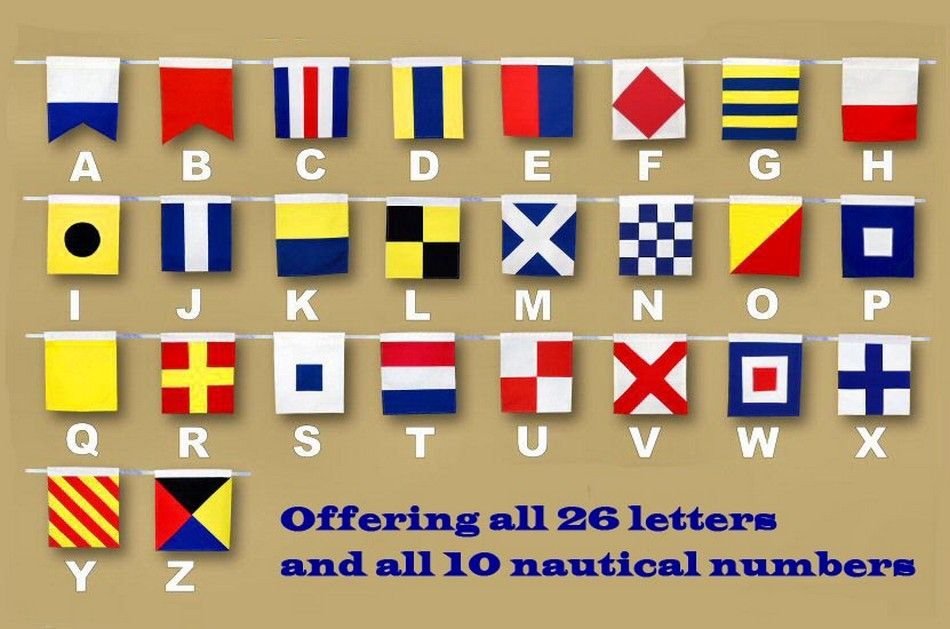 Buy Letter M Cloth Nautical Alphabet Flag Decoration 20in ...