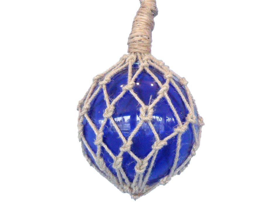 glass rope blue fishing float 6. Black Bedroom Furniture Sets. Home Design Ideas