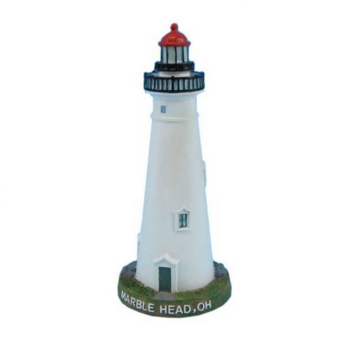 Wholesale Marble Head Lighthouse Decoration 7in