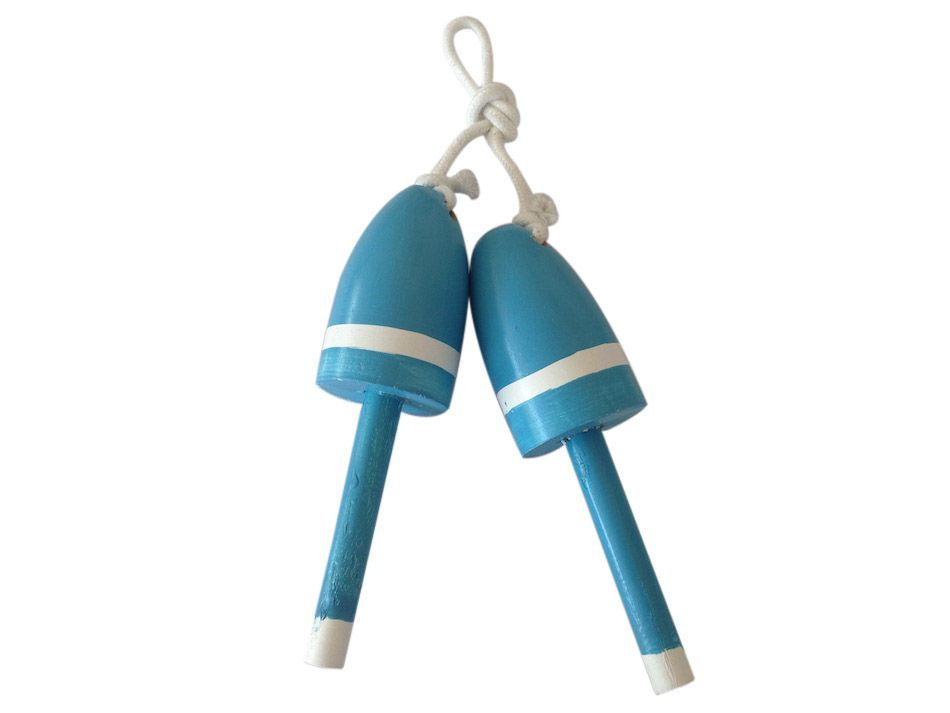 Buy Wooden Light Blue Decorative Lobster Trap Buoy Christmas Ornament 7