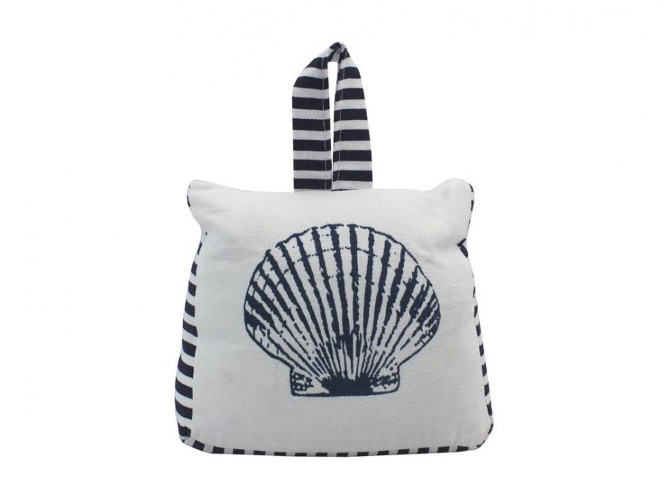 Blue And White Canvas Sandbag Seashell Door Stop 6