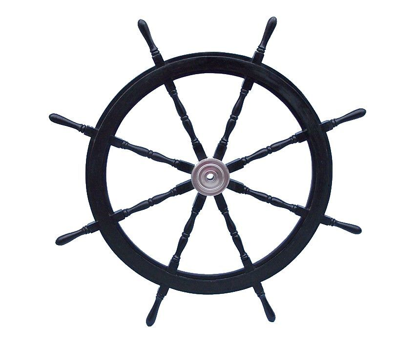 Nautical Wheel Decor: Buy Deluxe Class Wood And Chrome Decorative Pirate Ship