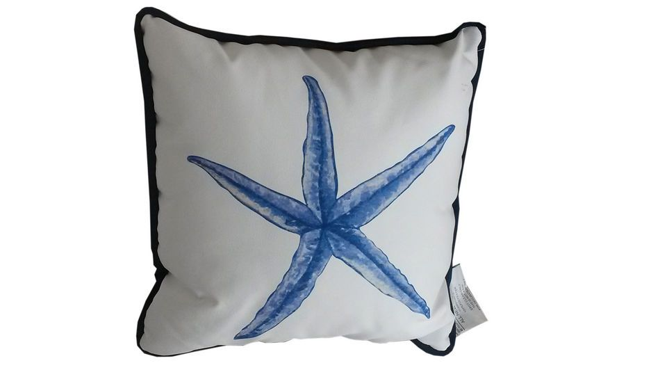Nautical Decorative Throw Pillows : Buy Blue and White Starfish Decorative Throw Pillow 10 Inch - Nautical