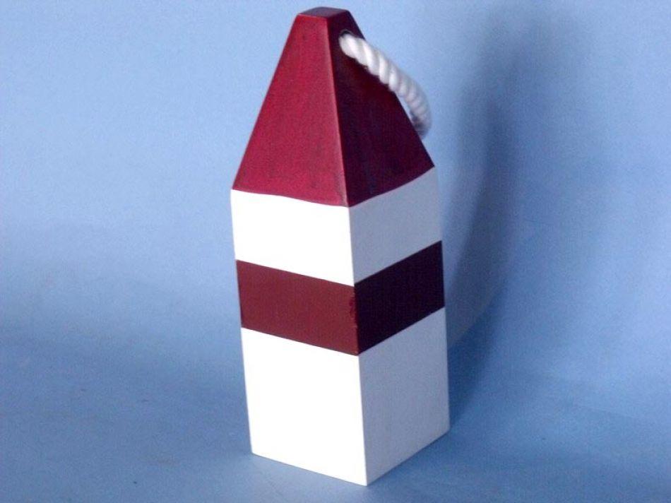 Buy Wooden Dark Red Maryland Decorative Crab Trap Buoy 8in