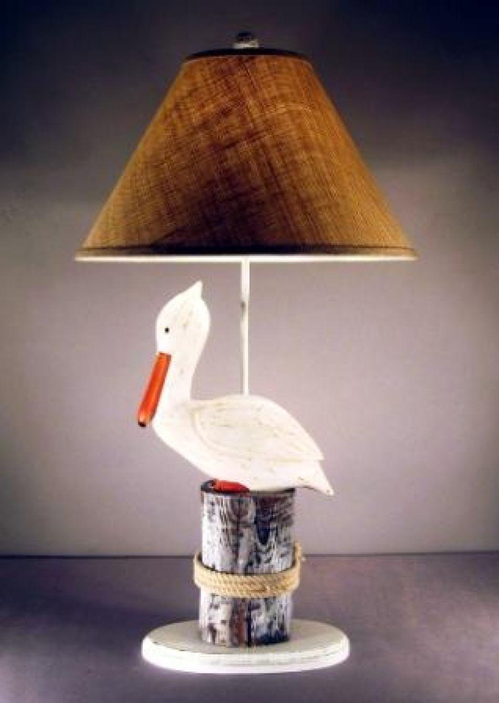 Buy Pelican Electric Lamp 32in Nautical Decor