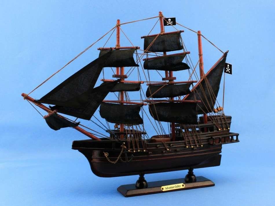Buy Wooden Captain Kidd S Adventure Galley Model Pirate