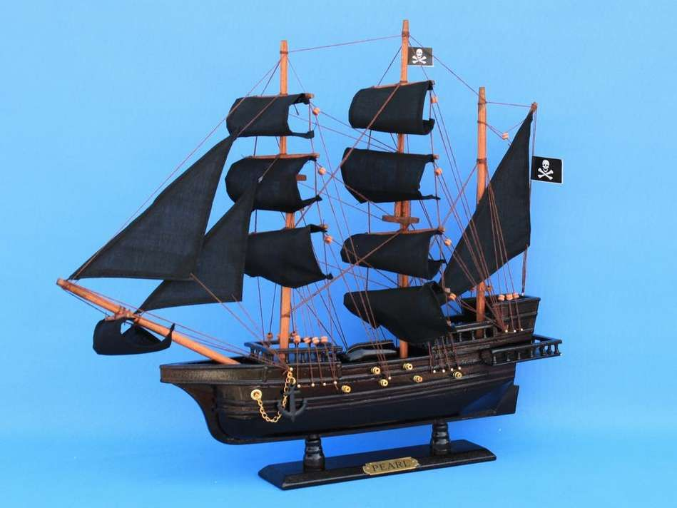 "England's Pearl 20"" Wood Pirate SHIP Pirate SHIP ..."