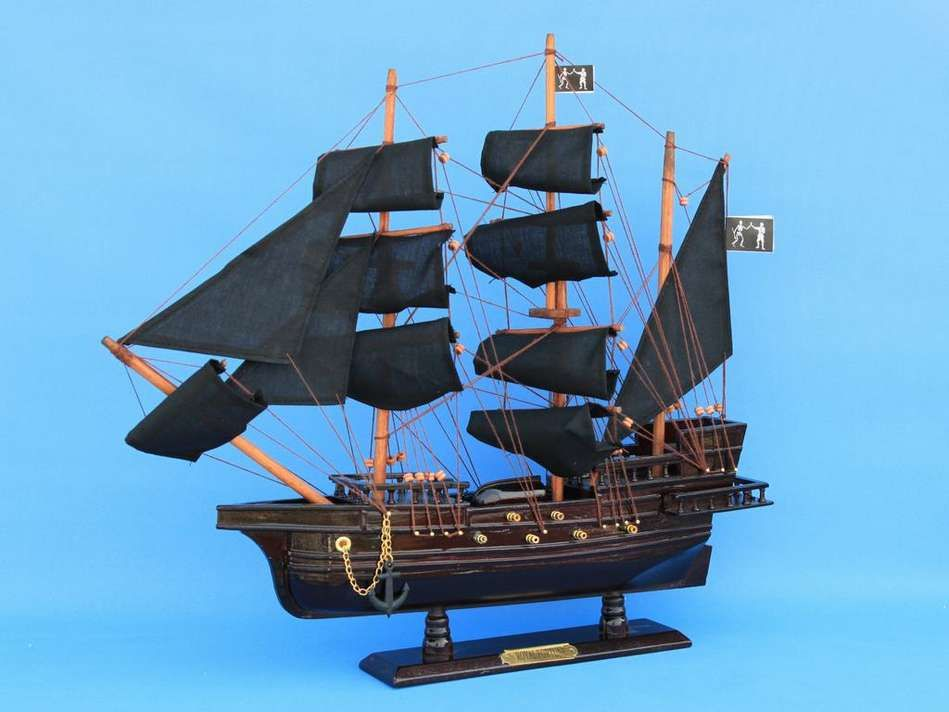 Buy Wooden Black Bart's Royal Fortune Model Pirate Ship 20in