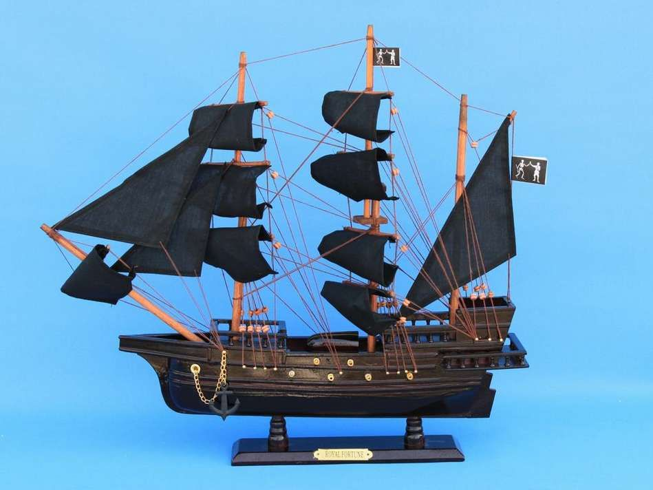 Picture of a model Pirate Ship