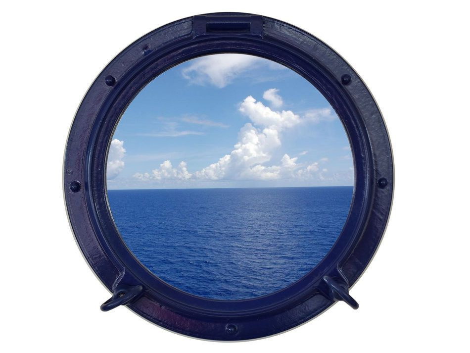 Buy navy blue decorative ship porthole window 15 inch for Decoration hole