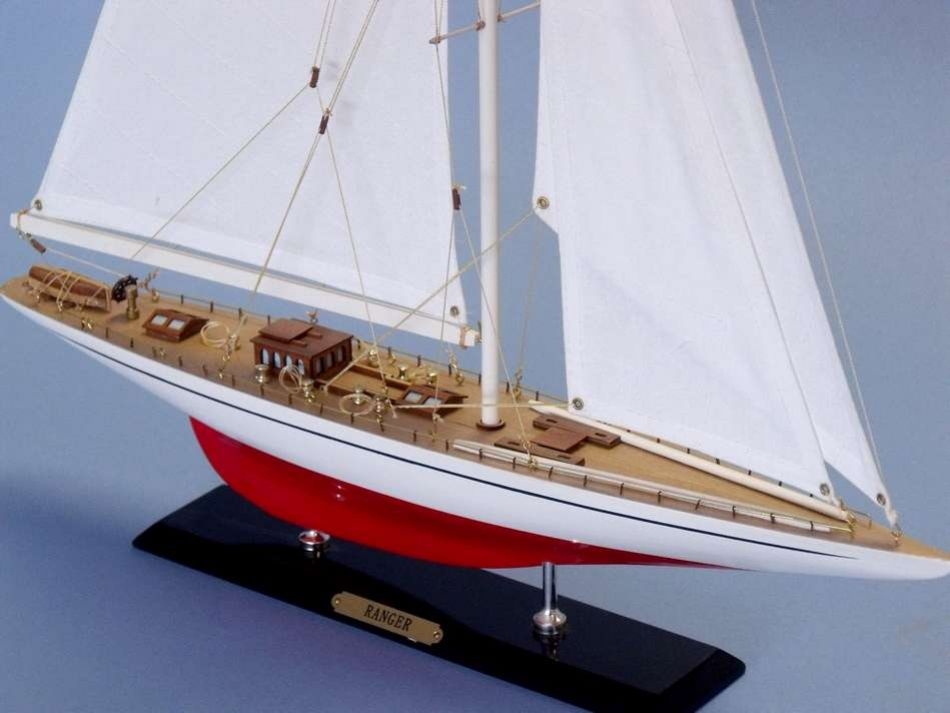 Buy wooden ranger limited model sailboat 26 inch model for Decoration yacht