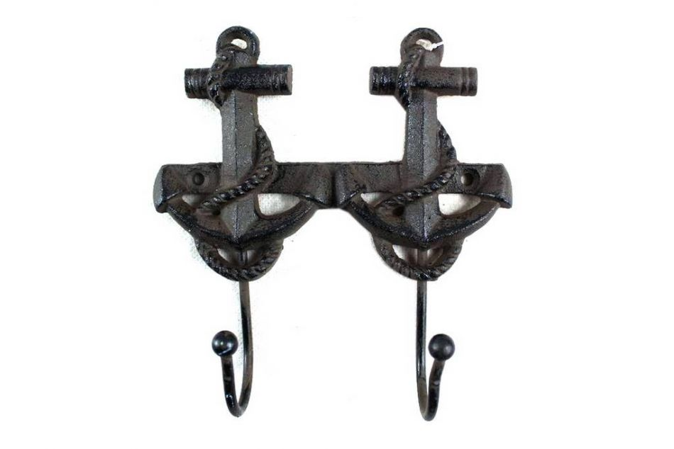 Buy Cast Iron Decorative Anchor Hooks 7 Inch Sea