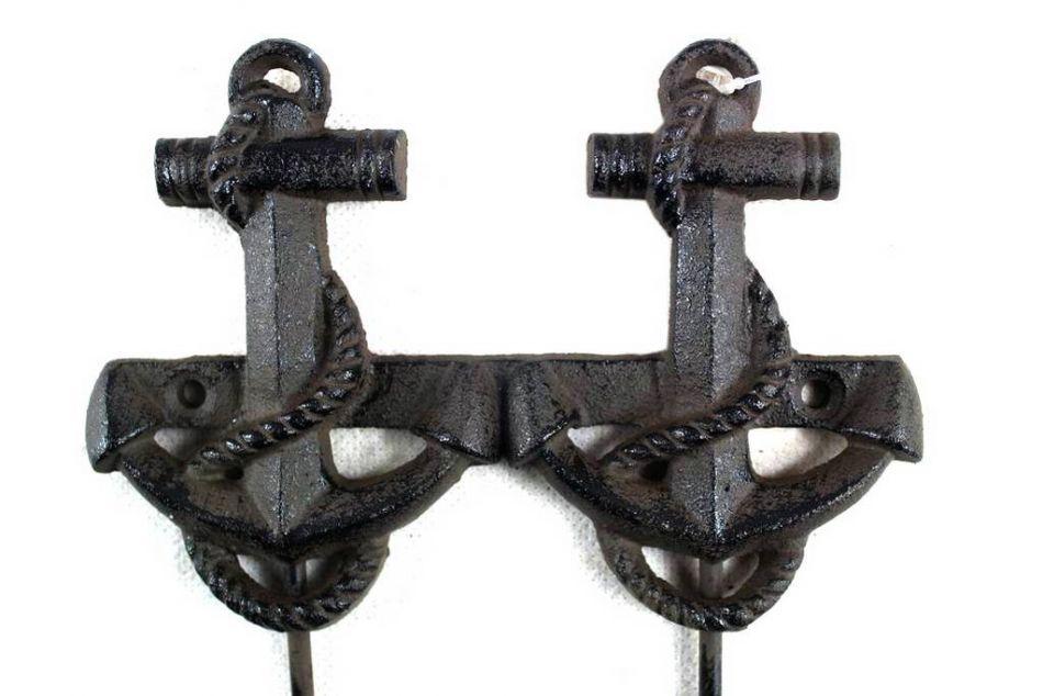 Buy Cast Iron Decorative Anchor Hooks 7 Inch Wholesale