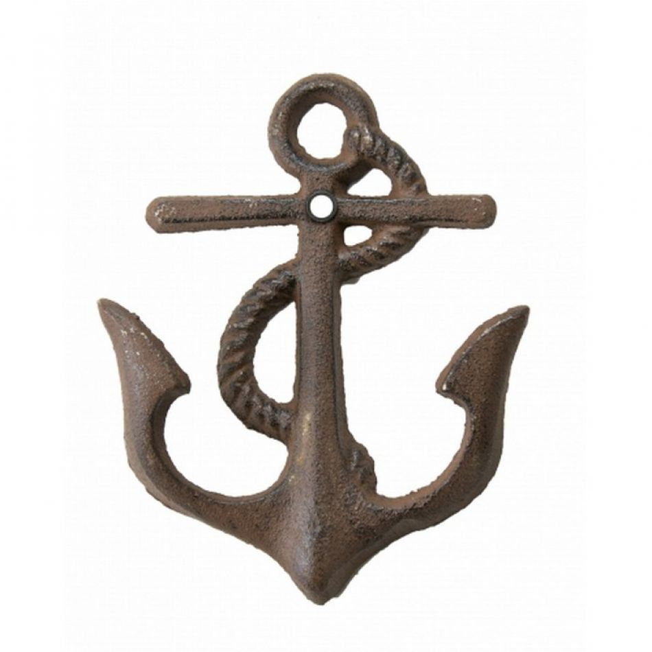 Buy rustic anchor w rope key hook 6 inch sea decorations for Anchor decoration