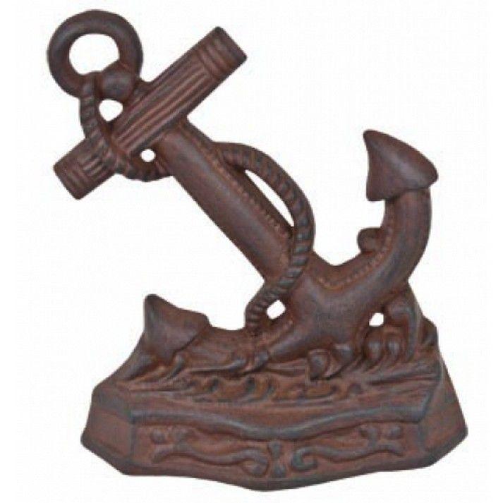 Rustic iron anchor door stop 8 vintage door stop Decorative door stoppers