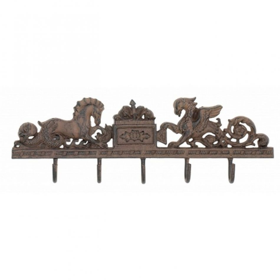 Buy Rustic Iron Seahorse Key Rack 21 Inch Wholesale