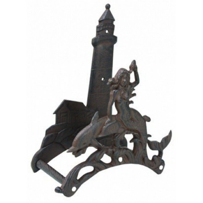 Buy Rustic Cast Iron Mermaid With Lighthouse Garden Hose