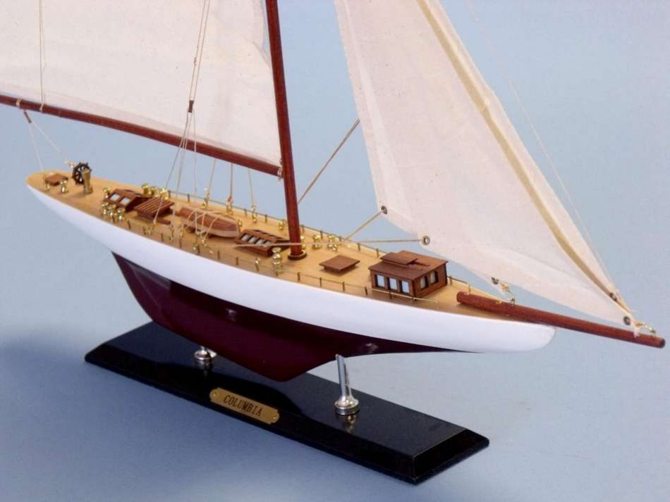 "Columbia Limited 25"" - Wood Sailboat Model - Sailboat ..."