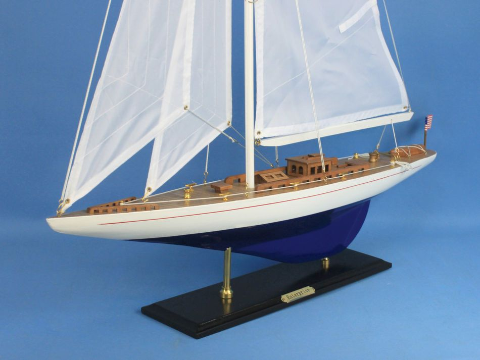 Buy wooden enterprise model sailboat decoration 35in for Decor international wholesale