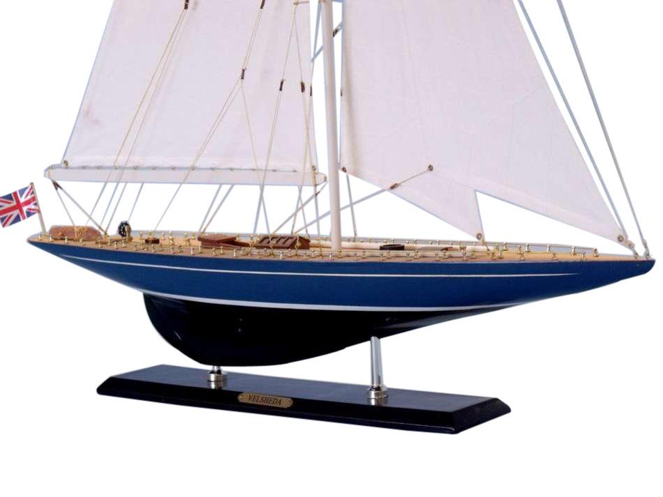buy wooden velsheda limited model sailboat decoration 35. Black Bedroom Furniture Sets. Home Design Ideas