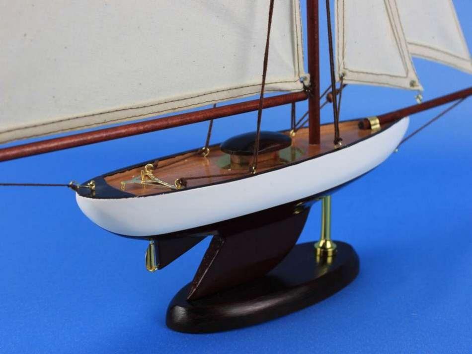 Buy Wooden Bermuda Sloop Model Sailboat Decoration 17in