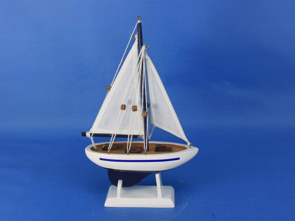 Wholesale blue sailboat christmas tree ornament 9 model for Decoration yacht