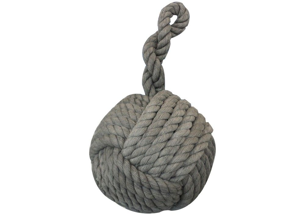 Buy gray sailor 39 s knot door stop 12 inch nautical home decor - Knot door stopper ...