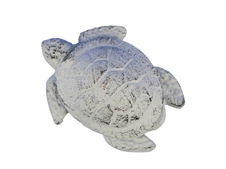 Buy whitewashed cast iron decorative turtle bottle opener for Turtle decorations for home