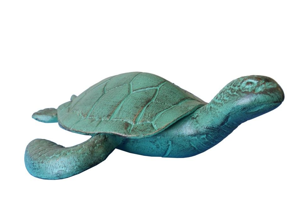 Buy seaworn aluminum turtle 12 inch sea decorations for Turtle decorations for home