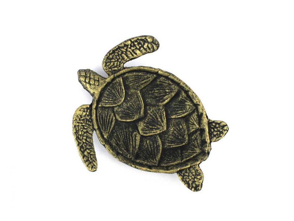 Wholesale antique gold cast iron sea turtle decorative Turtle decorations for home
