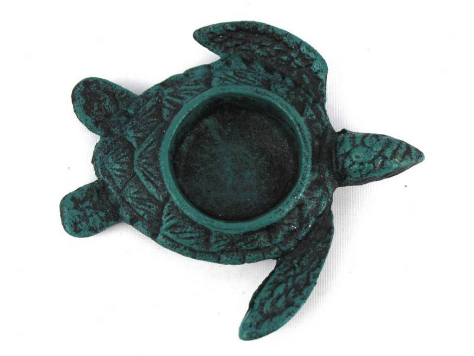 Buy Seaworn Blue Cast Iron Turtle Decorative Tealight