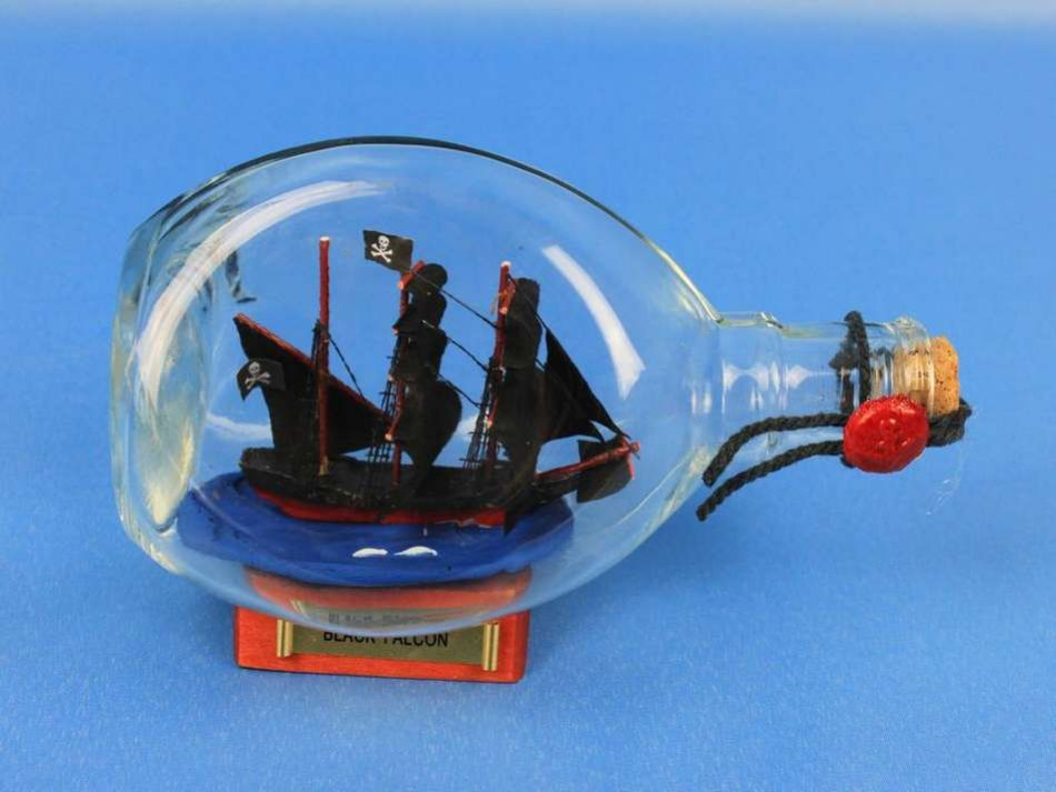 buy captain kidds black falcon pirate ship in a bottle