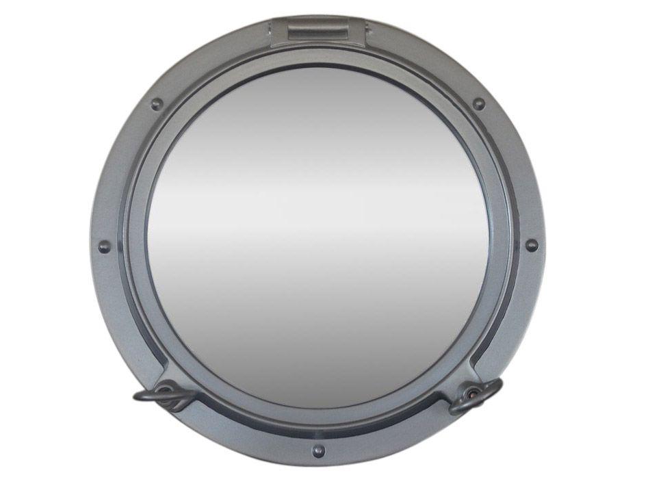 Buy Silver Decorative Ship Porthole Mirror 15 Inch - Wholesale Beach