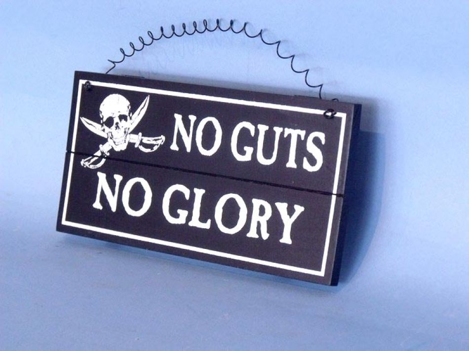 Wholesale Wooden No Guts No Glory Pirate Sign 8
