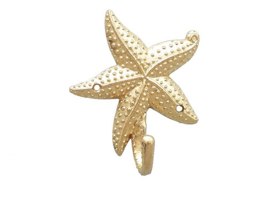 Gold Starfish Wall Decor : Wholesale brass starfish hook new sealife