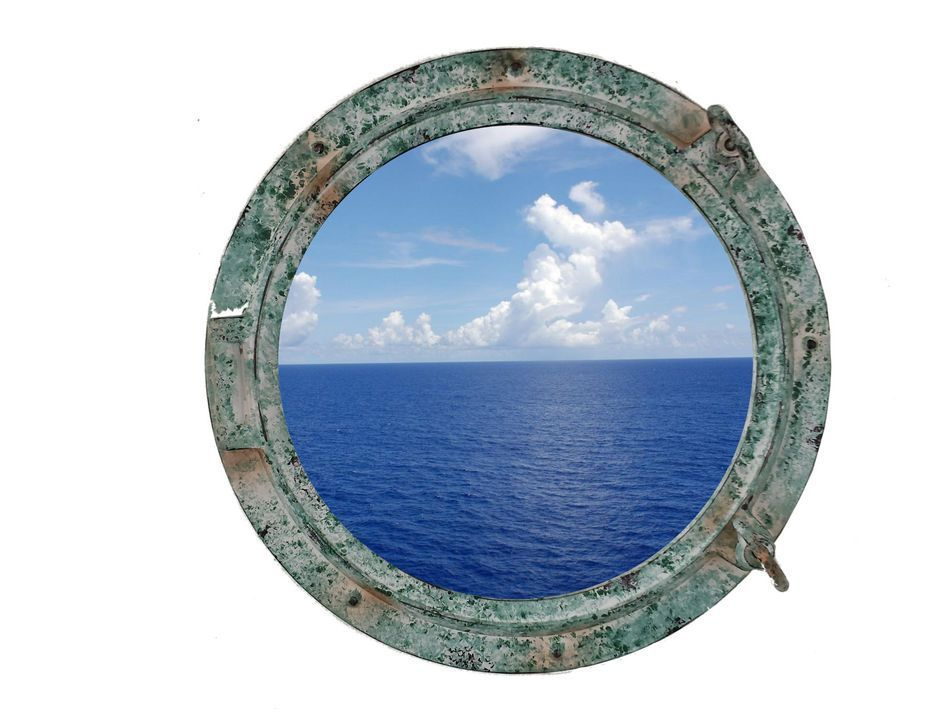 Buy titanic shipwrecked decorative porthole window 15 inch for Decoration hole