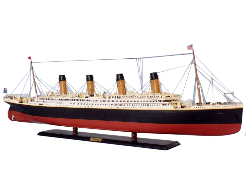 Picture of a 72 inch model of the RMS Titanic
