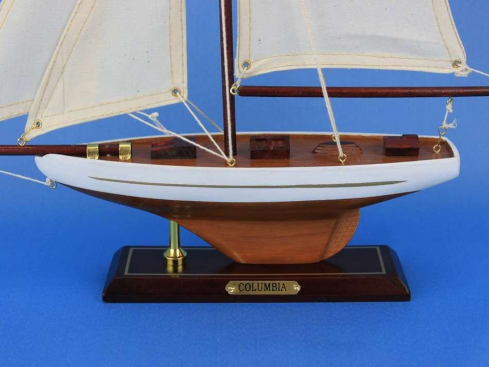 Buy Wooden Columbia Model Sailboat Decoration 16in - Model Ships