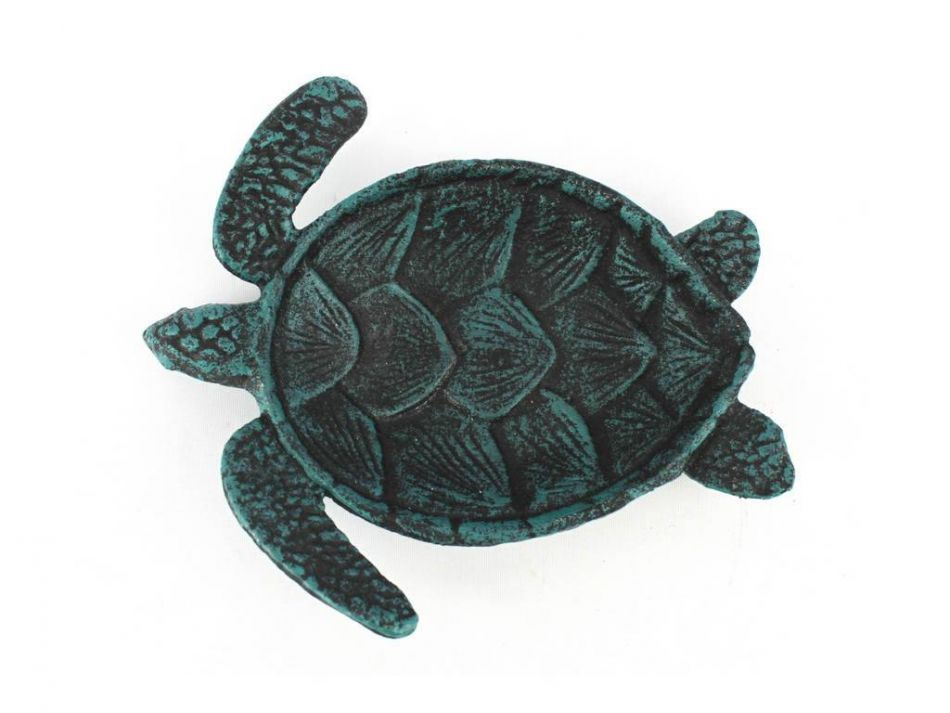 Buy seaworn blue cast iron sea turtle decorative bowl 7 Turtle decorations for home