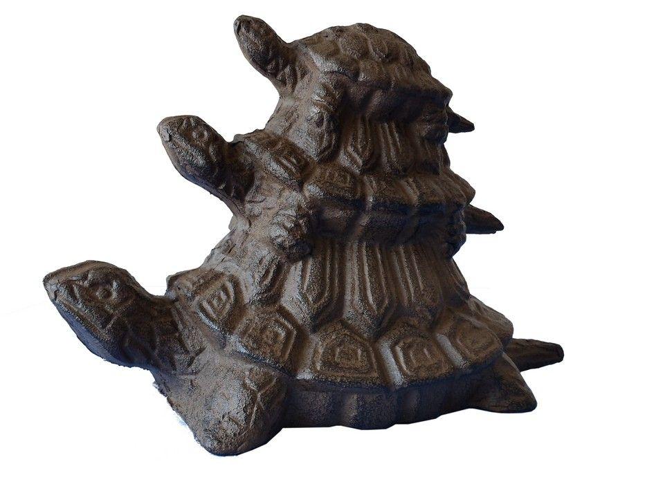 Buy rustic cast iron turtle family doorstop 8 inch nautical - Cast iron doorstop ...