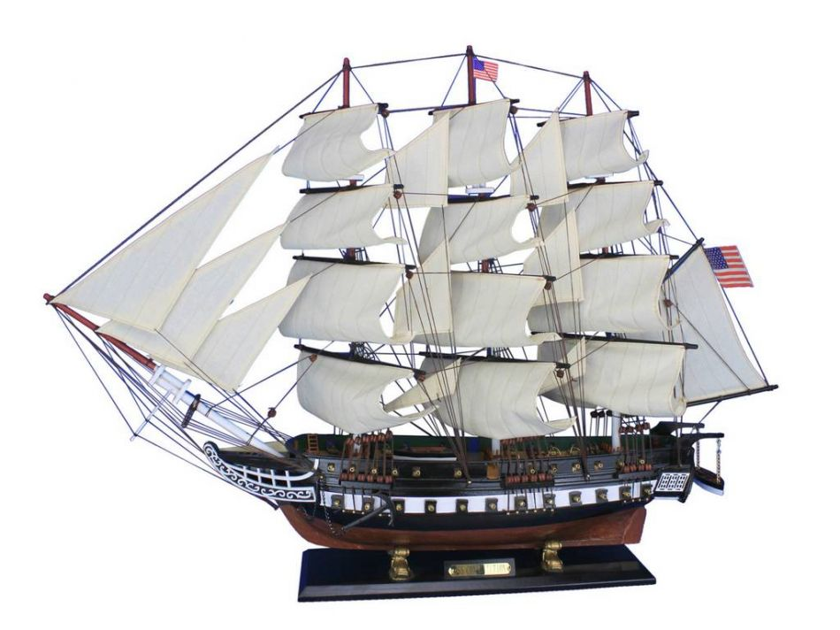 """USS Constitution Limited 32"""" Wooden Model Ship - Tall Ship ..."""