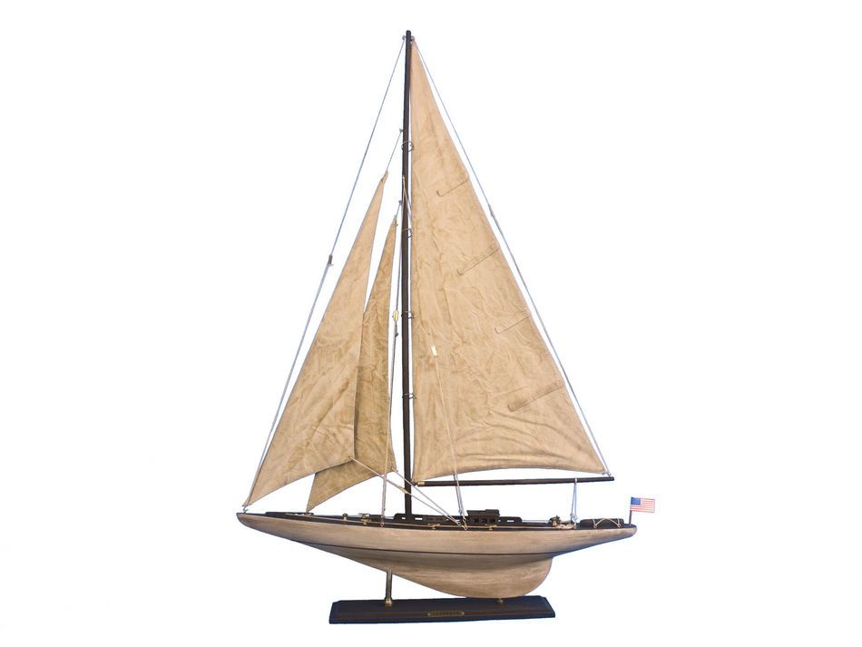 Buy wooden vintage intrepid limited model sailboat for Decoration yacht