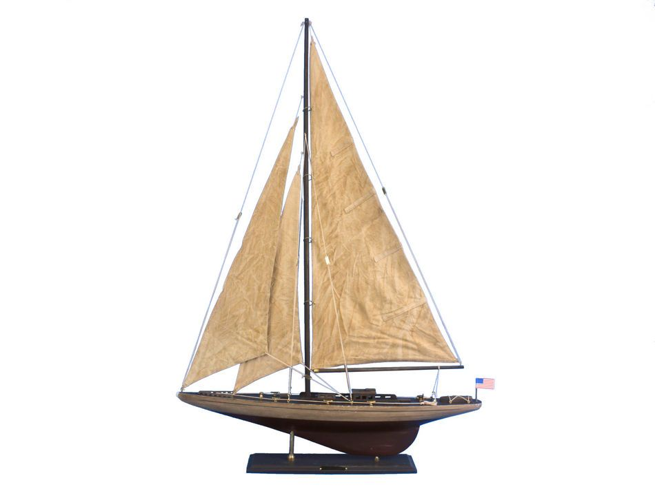 Buy wooden vintage ranger limited model sailboat for Decoration yacht