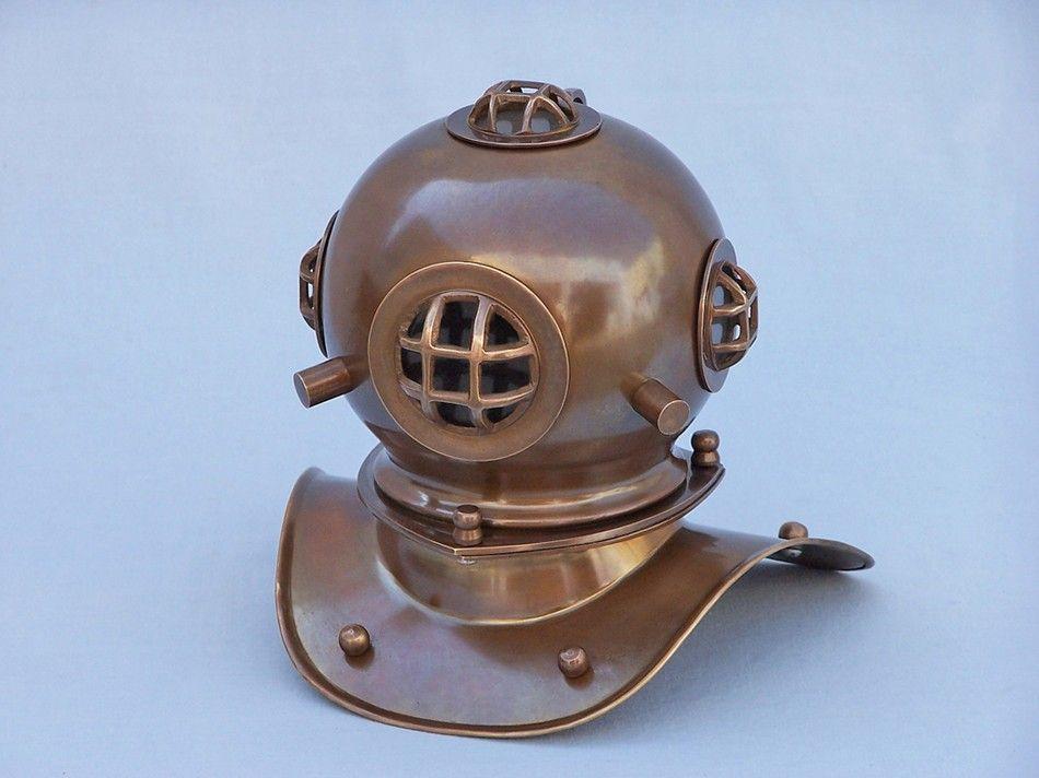 Buy Antique Brass Decorative Divers Helmet 9in Model Ships