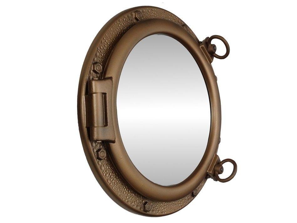Wholesale Bronzed Porthole Mirror 20 Inch
