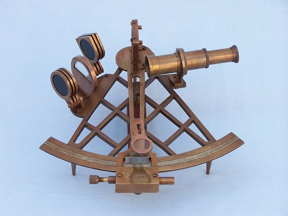 Buy Admiral S Antique Brass Sextant 12in With Rosewood Box