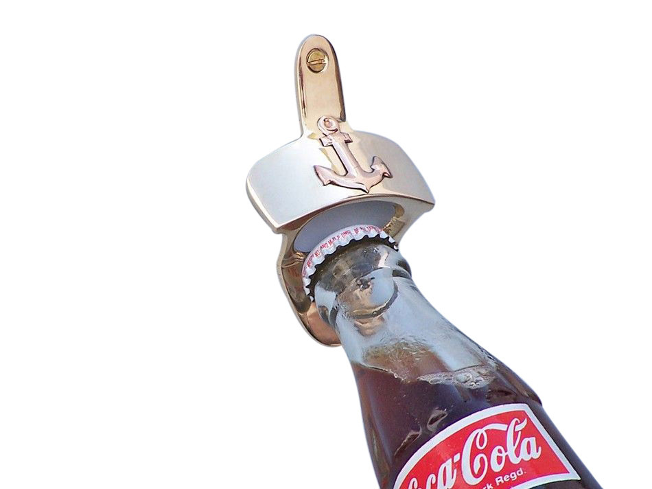 Buy Solid Brass Wall Mounted Anchor Bottle Opener 3 Inch