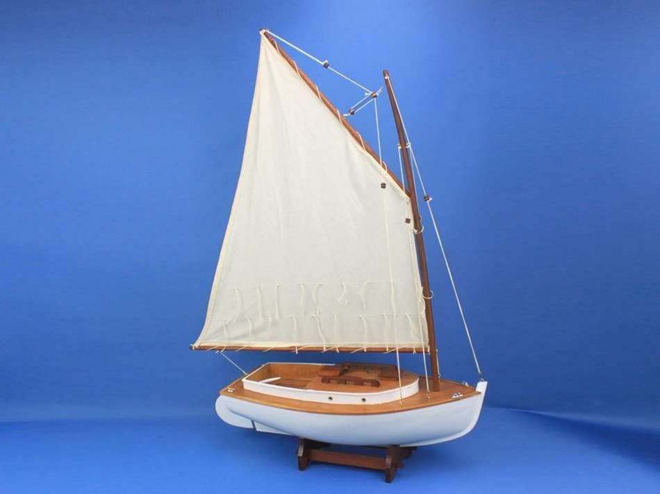 Lobster Boats For Sale >> Buy Wooden Cape Cod Cat Limited Model Sailboat Decoration ...